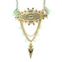 City Slicker Statement Necklace in Gold Sunny Sky