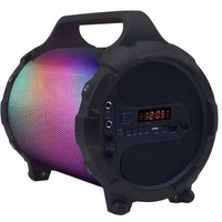 BeFree Sound Portable Bluetooth Party Speaker With Sound Reactive LED Lights, Built-in Rechargable Battery and Hard Mounted Carry Handle