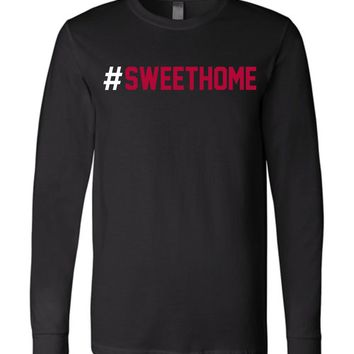 Official NCAA Venley University of Alabama Crimson Tide UA ROLL TIDE! #Sweethome Long Sleeve T-Shirt - 44NL-1