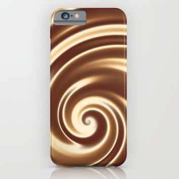 Chocolate milk cocktail spiral iPhone & iPod Case by Natalia Bykova
