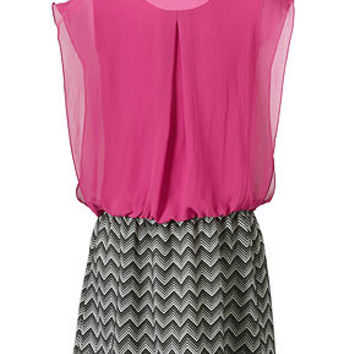 Speechless Girls Dress, Girls Chiffon-Top Zigzag Dress - Kids Girls 7-16 - Macy's