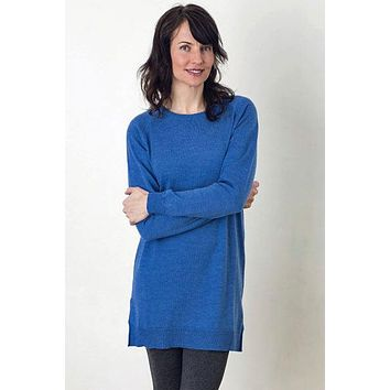 Merino Eco-Wool Crew Tunic Sweater - Katie