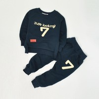 2 3 4 5 6 Year Boys Clothes 2017 New Casual Cotton Kids Suits Spring Autumn Long Sleeve Toddler Children Clothing
