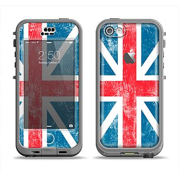 The Scratched Surface London England Flag Apple iPhone 5c LifeProof Nuud Case Skin Set