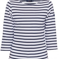 Galathee White and Navy Striped Shirt by Saint James on Halsbrook