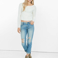 Distressed Faded Girlfriend Jean from EXPRESS