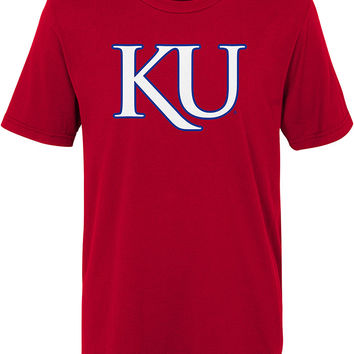 Kansas Jayhawks Boys Red KU Short Sleeve T-Shirt - 13347565