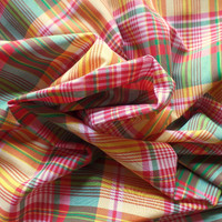 "Yarn-Dyed Plaid Lightweight Cotton Fabric 60"" Wide HALF YARD (45 cm)"