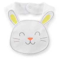 Carter's® Bunny Face Bib in White