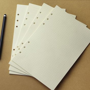 A5/A6   80sheets  4mixed  Spiral Notebook Refill Filler Papers Diary Planner Notepad Loose Leaf Refill Pages