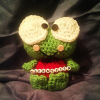 Keroppi The Frog With custom name beading