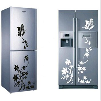 Creative Refrigerator Sticker Butterfly Pattern Wall Stickers Home Decor Christmast Gift