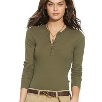 Ribbed Cotton Henley