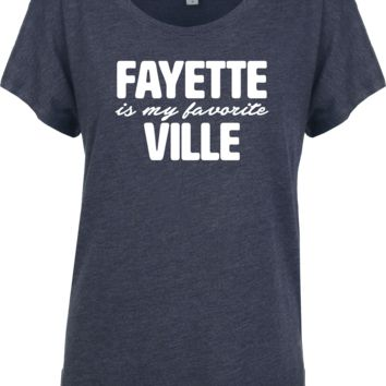 Fayette Is My Favorite Ville Ladies' Flowy Dolman