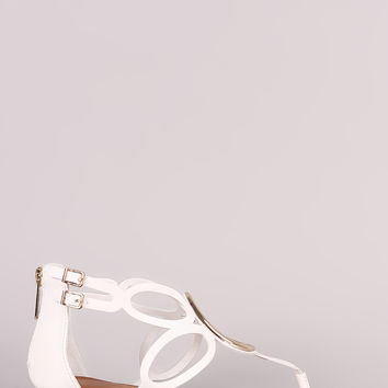 Breckelle O-Ring Accent Cutout Thong Flat Sandal