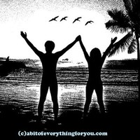 nude couple on beach printable art silhouettes downloadable digital download png jpg image graphics clipart travel vacation poster art