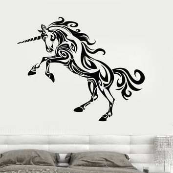 Wall Decal Vinyl Sticker Unicorn Mythology Bedroom Decor Unique Gift (z3225)