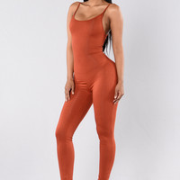Nova Season Jumpsuit - Rust