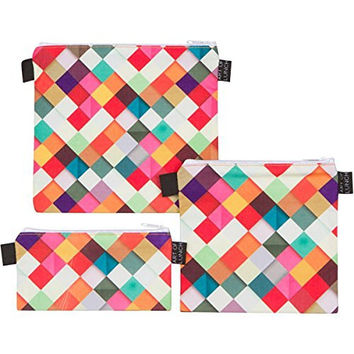 Reusable Sandwich & Snack Baggies by ART OF LUNCH with Design by Danny Ivan (Portugal) - Set of 3 Designer Sandwich Bags Produced Through a Partnership With Artists Around the World