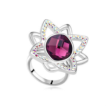 New Arrival Gift Jewelry Shiny Stylish Crystal Ring [4989649604]