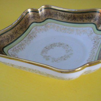 Limoges Coronet France Porcelain Bowl Gilt Decoration