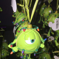 disney christmas ornament pixar monsters Inc. mike in lights new with tags