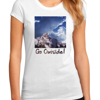 Go Outside Mountain Juniors Sublimate Tee by TooLoud
