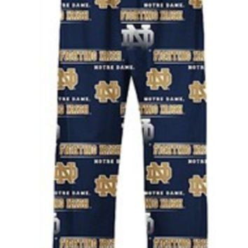 University Of Notre Dame Fighting Irish Fusion Printed Knit Sleep Pants
