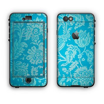 The Subtle Blue Floral Lace Pattern Apple iPhone 6 Plus LifeProof Nuud Case Skin Set