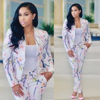 Floral Business Blazer and Pants