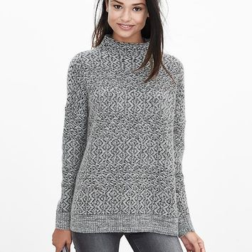 Banana Republic Womens Heritage Textured Mock Sweater Pullover