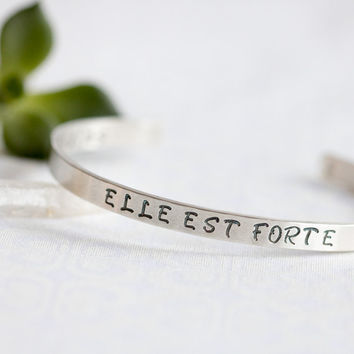 Proverbs 31 Jewelry ,ELLE EST FORTE, She is Strong, Religious Jewelry