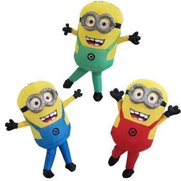 Halloween Costume For Women Men Minions Inflatable Despicable Me Adult Fancy Dress Costume 3 Colors Minion Inflatable Costume
