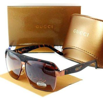 Gucci Trending Men Ladies Leisure Sun Shades Eyeglasses Glasses Coffee I