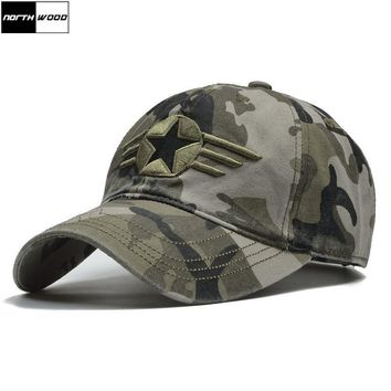 Trendy Winter Jacket [NORTHWOOD] 2018 Camo US Army Cap Men Army Baseball Cap Dad Hat For Men Camouflage Snapback Bone Masculino Tactical Dad Cap AT_92_12