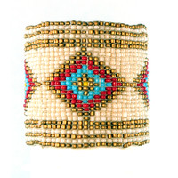 Native Seed Bead Bracelet on Sale for $14.99 at HippieShop.com