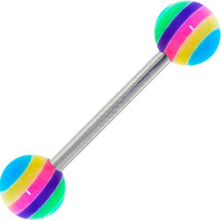 SHERBET SURPRISE Stripe Barbell Tongue Ring | Body Candy Body Jewelry