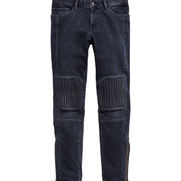 H&M - Biker Jeans - Dark blue - Men