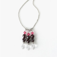 Dark Red Garnet Stone Necklace, Timeless Simple Statement Jewelry for a January Born