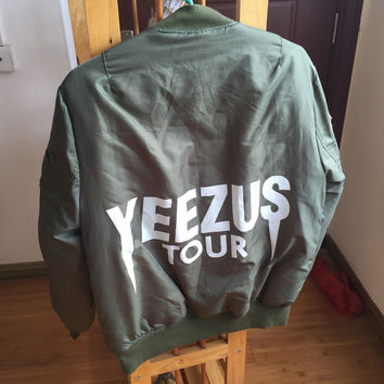 bape MA1 Bomber Flight jacket KANYE WEST YEEZUS tour jackets limit edition yeezy young mens hip hop streetwear Warm winter coats