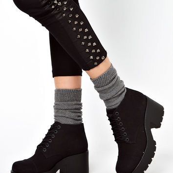 Vagabond Dioon Lace Up Black Ankle Boots