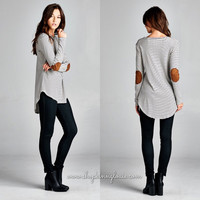 Striped Long-sleeve Tunic