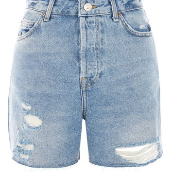 TALL Bleach Ripped Ashley Shorts | Topshop