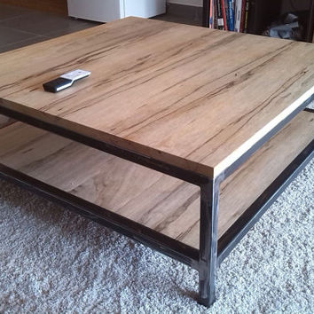 Table low wood and metal