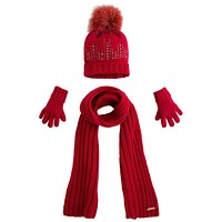 Mayoral Girls' Hat Scarf and Gloves Set, Maroon