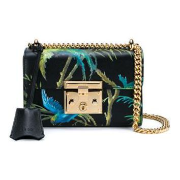 GUCCI | Tropical Print Padlock Shoulder Bag | Womenswear | Browns Fashion