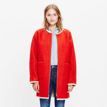 Sherpa-Lined Cocoon Coat