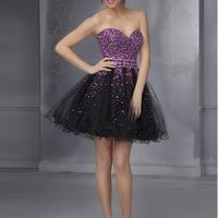 [91.66] Chic Tulle Sweetheart Neckline Short A-line Homecoming Dress - Dressilyme.com