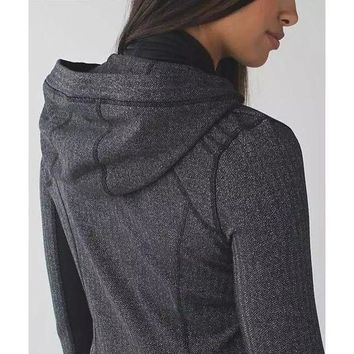 CREYUP0 Lululemon Women Casual Sport Running Yoga Cardigan Jacket Coat