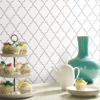 StickTILES Arabesque White Farmhouse Peel and Stick Tile